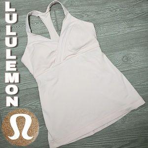 Lululemon racer back tank with padded shelf bra
